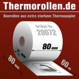 Extra-starke Thermorollen (76g/m²) 80 80 12